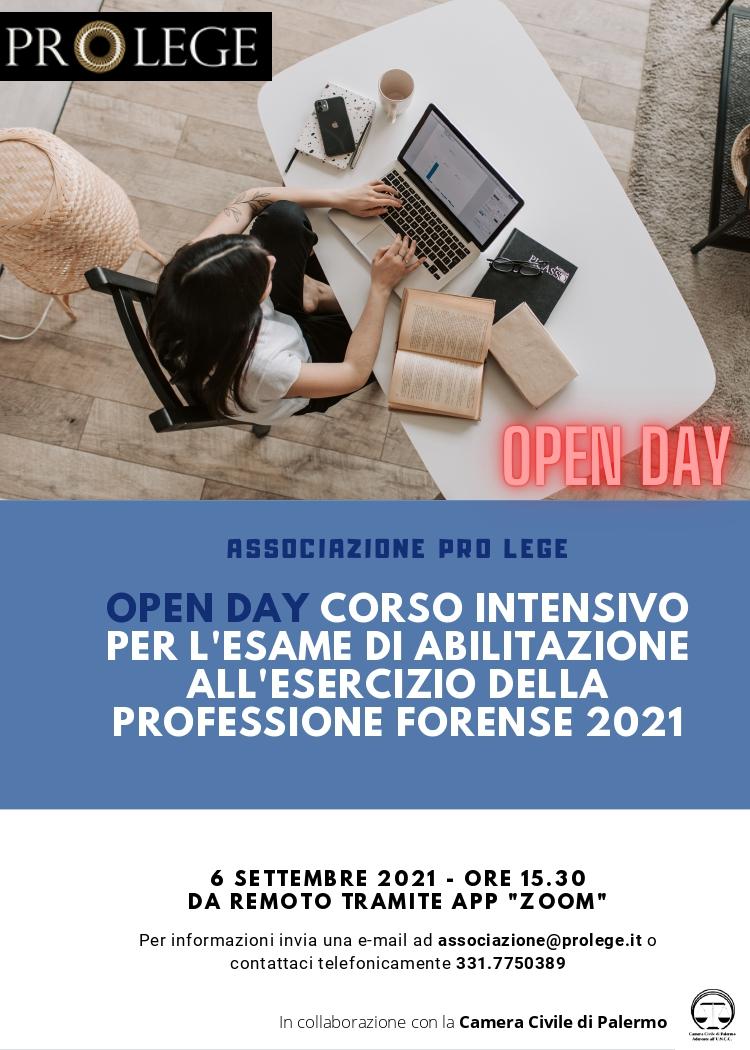 Open Day Corso Intensivo Esame Avvocato 2021 - Modalità Online